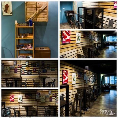 可里小餐馆』店外观的招牌其实很显眼,店内分两个楼层,一楼装潢有复古